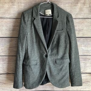 LOFT Cotton Spandex Blend One Button Blazer